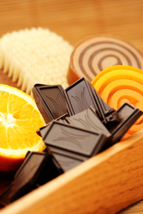 chocolate and orange soaps